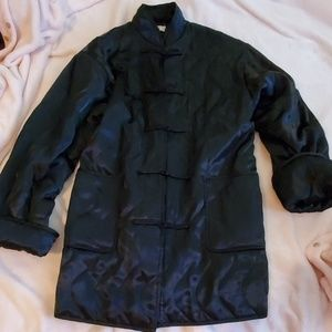 Black Victorias Secret Quilted Kimino Style Jacket